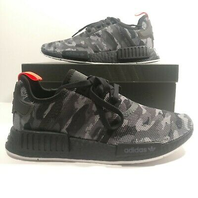 363b45ea57607 Mens Adidas NMD R1 NYC Black Camo NYC Letters Boost Shoes G28414 Multi Size