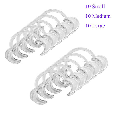 30 Pack Extra Mouthpieces Replacement C-Shape Cheek Retractors Mouth Lip...