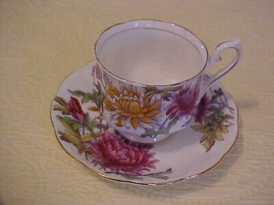 Royal Albert Flower of the Month Cup & Saucer CHRYSANTHEMUM No.11