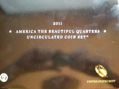 2011 United States Mint America the Beautiful Quarters Uncirculated Coin Set