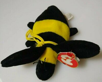 TY Beanie Baby - BUMBLE the Bee 3rd Gen Hang Tag - MWCTs 1995 PVC Pellet 847ca4f577ae