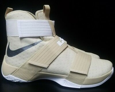 newest collection 9b36c 89d7b Nike Lebron LBJ Soldier 10 TB Promo Gold Basketball Men Shoes 856489-701  Size 16