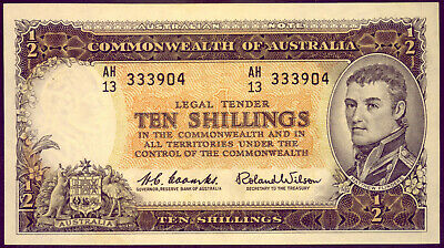 R17:  TEN SHILLING NOTE: COOMBS and WILSON  CRISP aUNC NO  RESERVE!!!