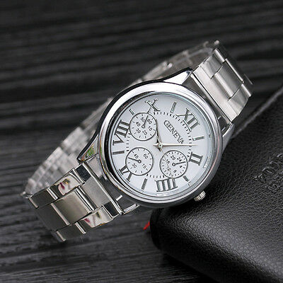 Luxury New Fashion Womens Stainless Steel Sport Quartz Hour Wrist Analog Watch