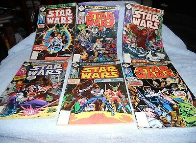 1977 - 1978  Marvel Star Wars Comic Lot 1, 2, 3, 7, 8 & 9