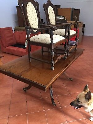 Beautiful Antique 8 Seater Dining Table With 2 Carvers