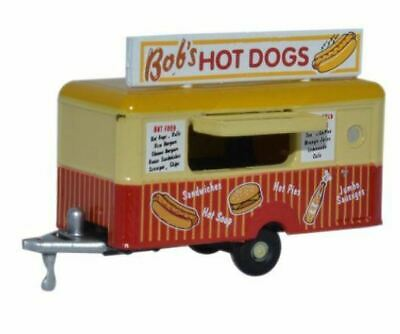 Oxford Diecast NTRAIL001 Mobile Food Trailer Bobs Hot Dogs  1:148  (N) Scale