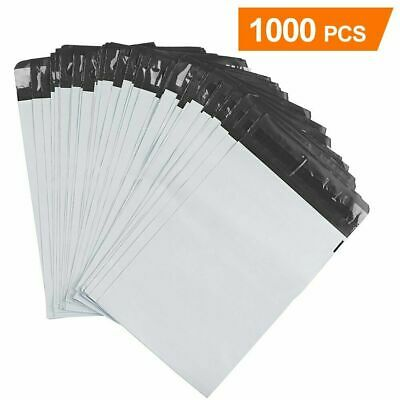"1000 Pcs 6x9 White Poly Mailers Envelopes Plastic Shipping Bags 6"" x 9"" 2.5 Mil"