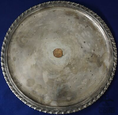 "Vintage Tiffany & Co. Sterling Silver (.925) 12"" Round Platter/Serving Tray"
