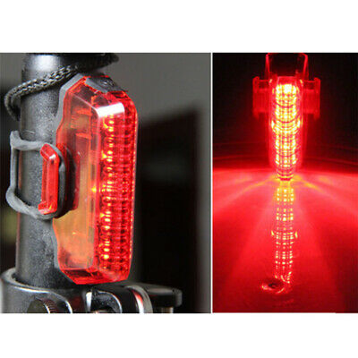Waterproof Bicycle Bike Cycle 5 LED Red Rear Tail Back Light Lamp 3 Modes UK