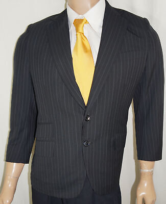 Charles Beverly Hills Blazer - 40 XS Black Pinstripe Fully Canvassed Suit Jacket
