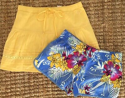 ROXY Girls Size 10 Board Shorts & Skirt- As New Condition