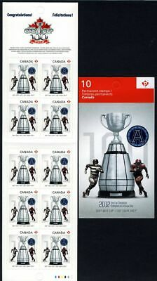 OVERPRINT Variety = CFL GREY CUP = Football One BKLT of 10 = Canada 2012 MNH-VF