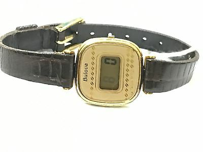 Vintage Bulova Quartz Women's Watch New Old Stock From 1980s Working(B82391)