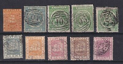 British Guiana 1876-76 collection of 10 used