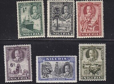 Nigeria 1936 part set of 6  mint hinged
