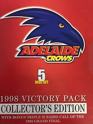 ADELAIDE CROWS 1998 AFL VICTORY PACK 5 x DVD Box Set Collector's Ed Exc Cond!