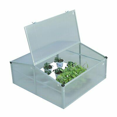Outsunny Outdoor 2 Level Adjustable Roof Cold Frame Greenhouse Grow House Flower