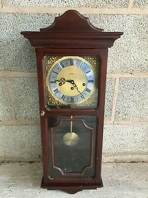 Vintage 1970s Large METAMEC Wall Chime Striking Pendulum Clock Spares or Repair