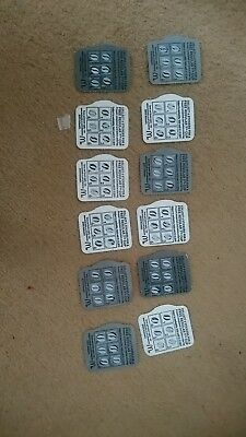 12 McDonalds hot drinks coffee completed stickers loyalty reward cards vouchers