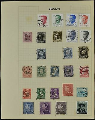 Belgium Album Page Of Stamps #V8478