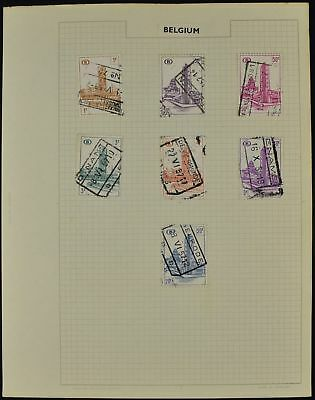 Belgium Album Page Of Stamps #V8472