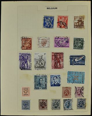 Belgium Album Page Of Stamps #V8476