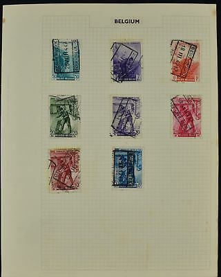 Belgium Album Page Of Stamps #V8475