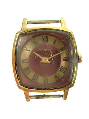 Old Vintage GOLD Plated SEKONDA Mechanical Wristwatch Watch WORKING Nr 4638