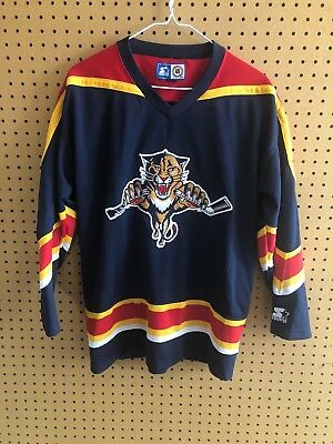 e3f6ffbc2 Vintage Florida Panthers Hockey Jersey Starter Youth Large XL NHL Sewn  Patches