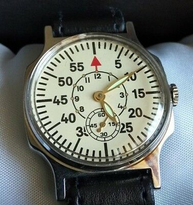 Wrist Watch Pobeda Laco Sturmanskie Military Vintage USSR Mechanical / Serviced