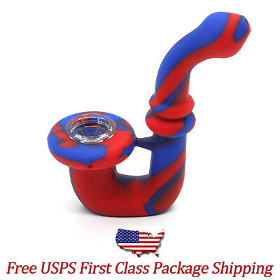 Collectible Silicone Sherlock Tobacco Hand Pipe with Glass Bowl - Free Shipping