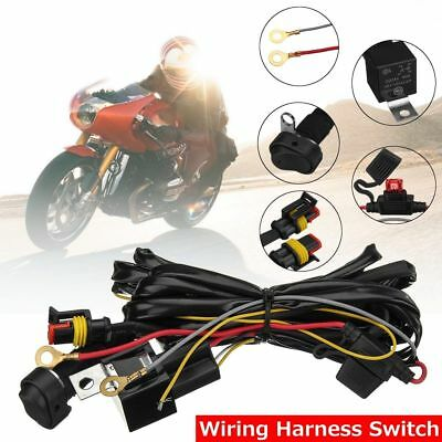 KIT Cablaggio Fari LED 12V 300W  Moto Scooter Relè 40A  WATERPROOF IP67