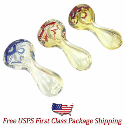 """Free Shipping 2.5"""" Mini Tobacco Smoking Spoon Hand Pipe Collectible Pyrex Glass"""