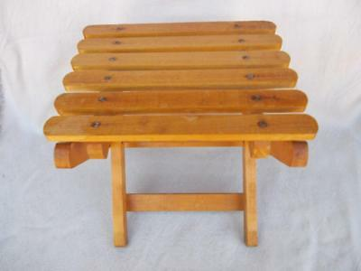 328 / Vintage Small Wooden Folding Stool .