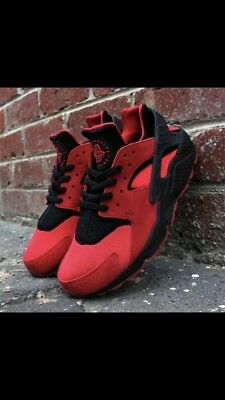 """hot sale online ef430 cb037 Special Edition Nike Air Huarache QS """"Love Hate"""" Red Black size UK"""