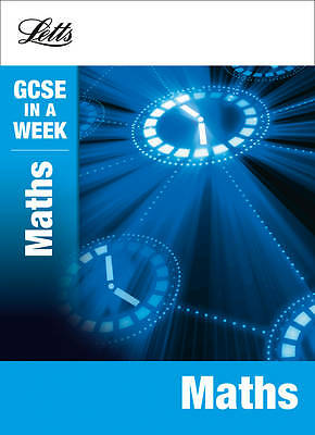 Maths (Letts GCSE in a Week Revision Guides), Mapp, Fiona, Very Good Book