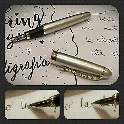 Flexible, Flexi, Flex nib custom fountain pen Calligraphy, copperplate.