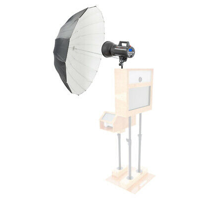 PIXAPRO LUMI200 Photobooth Kit with 105cm Deep Parabolic Black/White Umbrella