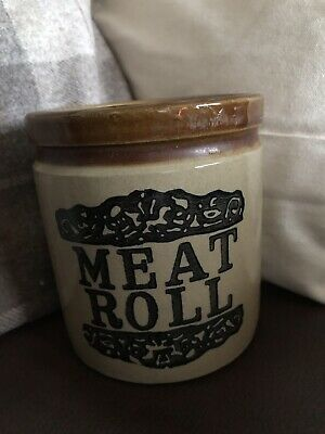 Meat Loaf/Roll Stone Jar Made By Moira Farmhouse Stoneware