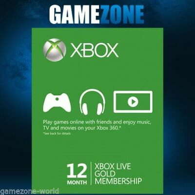 Xbox Live GOLD Subscription Card 12 Months EUROPE XBOX LIVE