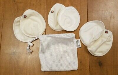 Close Pop In Reusable Breast/ nursing Pads. 3 Pairs And Wash Bag