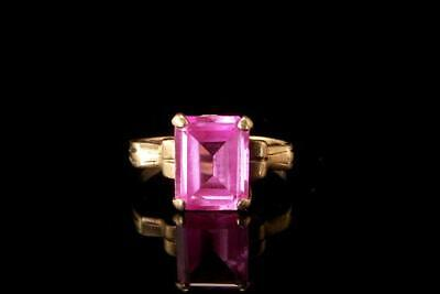 Old Pink Sapphire 10K Yellow Gold Ring  A808-16