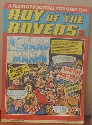 ROY OF THE ROVERS 23rd February 1980 The Hard Man MIghty Mouse Mike's Mini Men