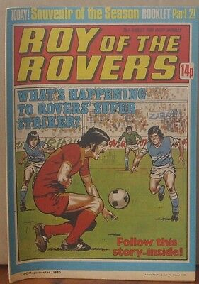 ROY OF THE ROVERS  23rd August 1980 The Hard Man MIghty Mouse Tommy's Troubles