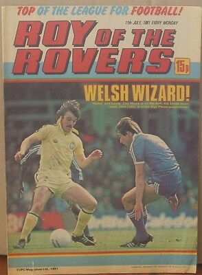 ROY OF THE ROVERS  11th July 1981 The Hard Man MIghty Mouse Tommy's Troubles