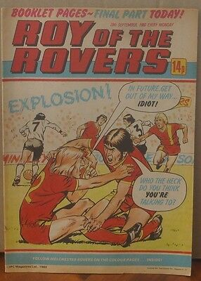 ROY OF THE ROVERS 20th September 1981 The Hard Man MIghty Mouse Tommy's Troubles