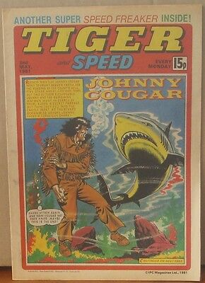 TIGER and SPEED comic 2nd May 1981 Johnny Cougar Hotshot Hamish Billy's Boots