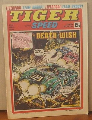 TIGER and SPEED comic 23rd May 1981 Johnny Cougar Hotshot Hamish Billy's Boots