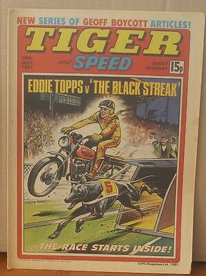 TIGER and SPEED comic 30th May 1981 Johnny Cougar Hotshot Hamish Billy's Boots